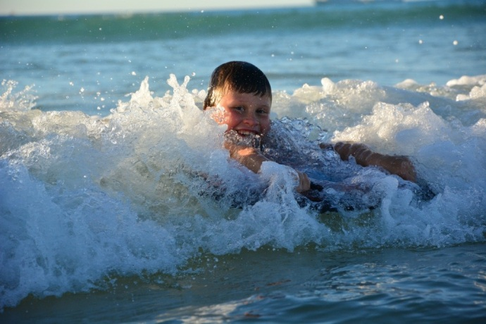 Fun in the surf!