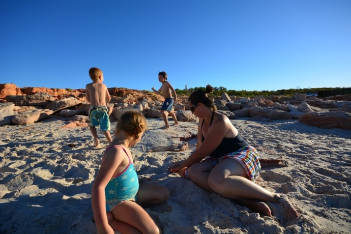 On the beach at Cape Leveque
