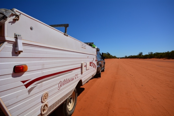 Red sand and corrugations all the way