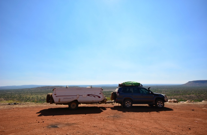 Peter Prado and Karen Camper on the Gibb River Road