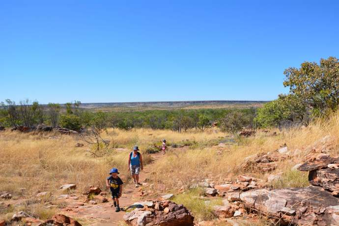The long, hot, dusty walk to Manning Gorge