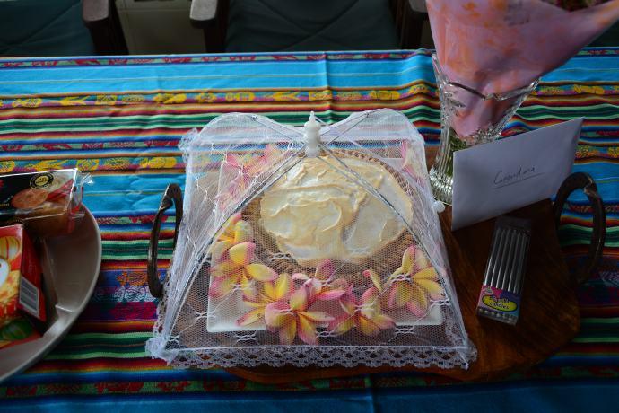 Frangipani Pie - so yum!