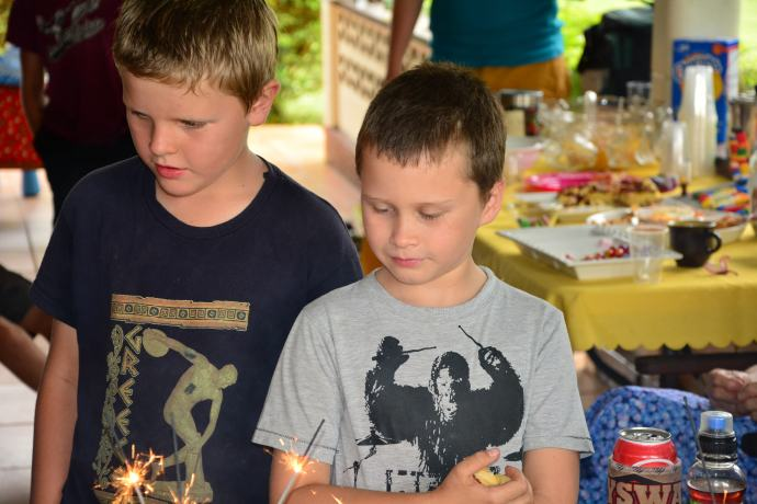 The 8 year olds!  Jack and Nick!