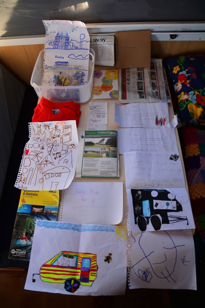 The contents of our time capsule.