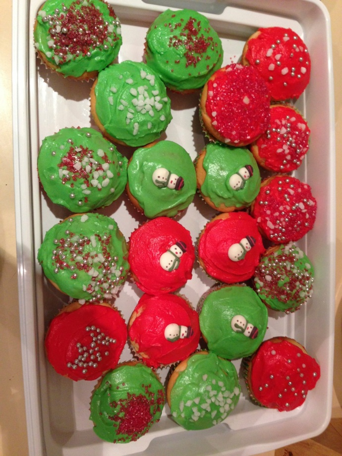 Christmas baking got underway with Chrissy cupcakes and reindeer brownies and yum yum balls for the kids class break up parties