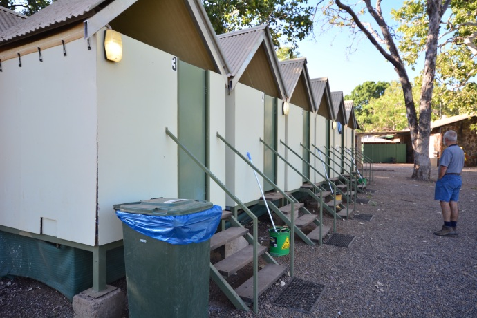 We loved the amenities at El Questro - great little toilet/shower huts that you could have all to yourself!