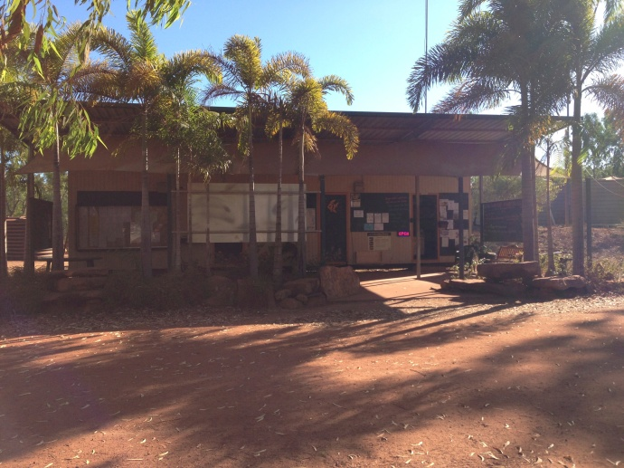 The shop at King Ash Bay fishing club where you purchase your camping permit