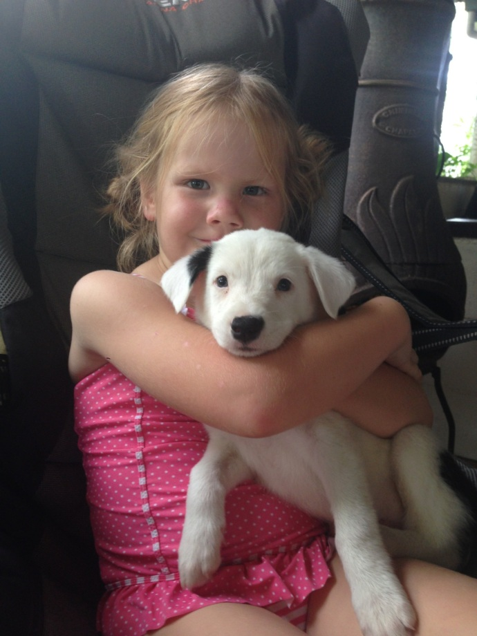 Lexi with her favourite puppy 'Daisy'