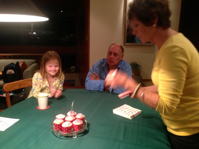 Early birthday dinner with Grandma & Grandad Bill