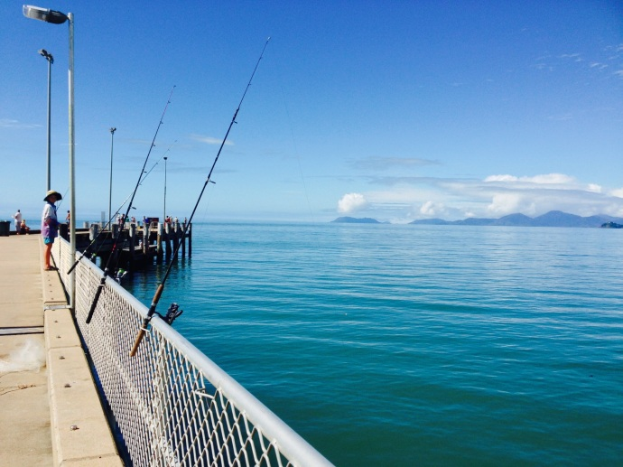 Palm Cove Jetty is very popular with the fishermen